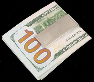 VTG DESIGNER SIGNED DB DOLAN BULLOCK STERLING SILVER MEN'S CLASSY MONEY CLIP NEW