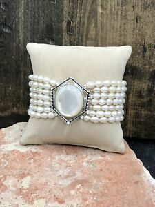 Barse Sumptuous Pearl Bracelet-Silver Overlay- New With Tags
