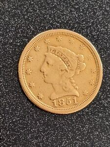 1851-O Liberty Head Quarter Eagle United States Gold Coin Better Grade