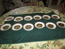 """The Hamilton Collection Japanese Floral Calendar 6"""" Plates - 12 pieces"""