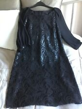 NEXT STUNNING Black Sequin/Chiffon Christmas/Party/Cocktail Dress UK14