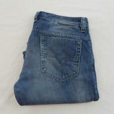 Diesel Safado Regular Slim Straight Jeans 0842 C Taille 34 Jambe 31 Bouton Fly M4872