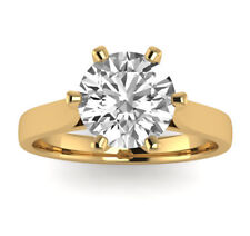 1.60 CT REAL NATURAL DIAMOND ENGAGEMENT RING ROUND CUT E VS2 14K YELLOW GOLD