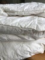 Threshold King Down Duvet Insert Comforter White Quilted Target Cotton