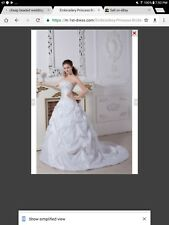New White, Prom, Sweet 16, Quinceanera, Wedding Dress, Size 12-14
