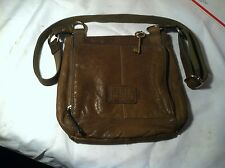Vintage Fossil Issue No. 1954 Green Leather Crossbody Purse Messenger Bag Nice!