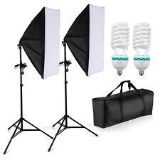 1250W ECHT Fotostudio Softbox Studioleuchte Set 10cm 4420 Lumen 5500K Fotolampe