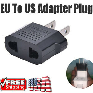 Universal Travel Converter Adapter Wall Charger EU tO US Plug Power Adapter New