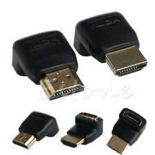270+ 90 Degree Right Angle HDMI Male to Female M/F Adapter Extender Connector x2