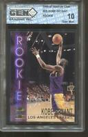 1996-97 Kobe Bryant Stadium Club #R9 Gem Mint 10 RC Rookie LA Lakers MVP HOF