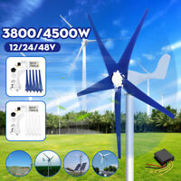 3800/4500W MaxPower 5 Blades Wind Turbines Generator 12/24/48V+Charge Controller