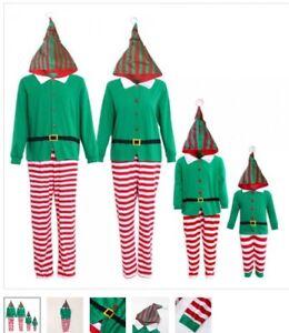 Matching Christmas Elf Pyjamas For A Family Of Four