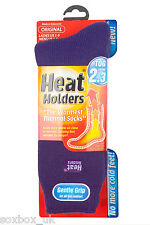 Ladies Plain Thermal Heat Holder Socks size 4-8 Uk, 37-40 Eur, 5-9 us Purple