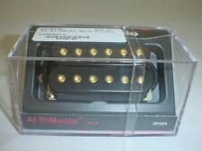 DIMARZIO DP201 Al DiMeola Neck Guitar Pickup - BLACK REGULAR SPACING GOLD POLES