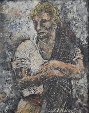 Senabre Louis Jou - Jeune pêcheur 1939 - Huile sur panneau