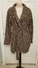 Lola Fleece Leopard Print Bath Robe Medium