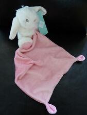 Doudou mouchoir Lapin Tex Baby Rose Blanc Pois 11 cm (mo3107)