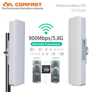 5KM 900Mbps 5.8G Outdoor wireless bridge wifi CPE Access Point range Antenna