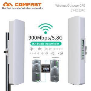 5KM 900Mbps 5.8G Outdoor wireless bridge wifi CPE Access Point range Antenna