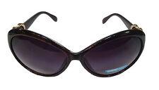 Femmes brun foncé & or coeur charme surdimensionné celeb hepburn lunettes de soleil SG25