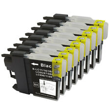8 NON-OEM BLACK INK CARTRIDGE BROTHER LC-61 LC-61BK MFC-MFC-990CW MFC-255CW BK