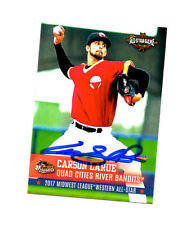 Carson LaRue 2017 Midwest League All Star auto signed card Quad Cities