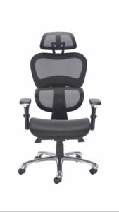 New Chachi Full Mesh High Back Ergonomic Office Chair Head Rest Adjusting Arms