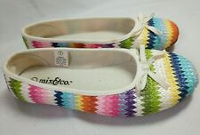 Mix & Co Size 7 Shoes Textile Upper Size 7 Colorful Woven Ballet Flats Zigzag