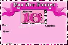 Sweet 16 Party Invitations with matching envelopes, birthday, 12pack