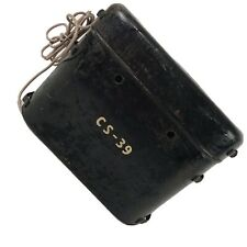 Vintage Battery Can Metal Box Military Flashlight Power Supply Field