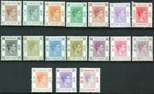 Hong Kong 1938 KGVI part set of 17 to $5 Mounted Mint