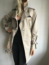BURBERRY WOMENS SMALL UK 10-12 USA 6 36-38 SHORT TRENCH COAT JACKET RAINCOAT MAC