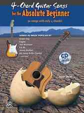 Alfred 4 Chord Guitar Songs for the absolute Anfänger Musik Buch mit CD nagelneu