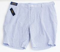 Polo Ralph Lauren Blue & White Seersucker Stretch Classic Fit Shorts Men's NWT