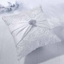 White Lace Satin Ring Pillow RingBearer Pillow