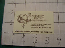 original SCI FI ARTIST BUSINESS CARD from 1987: THE PAT MORRISSEY PROJECT