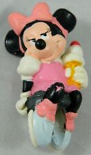 """Disney Pink Dress MINNIE MOUSE pvc figure Laying down Ice Cream Cake Applause 2"""""""