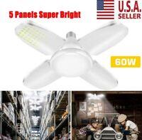E27 Deformable LED Garage Light 6500lm Radar Motion Ceiling Lamp Lights Bulb USA