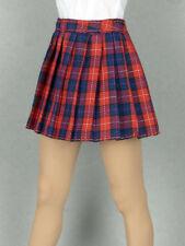 1/6 Phicen, Hot Toys, Kumik, Cy Girl, ZC & NT - Female Red Tartan Plaid Skirt #2