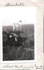 VINTAGE 1920 CAR/AUTO ALICE BLUNDELL RYE FIELD/FARM/RANCH CHADRON NEBRASKA PHOTO