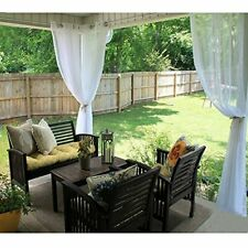 Ryb Home Outdoor Indoor Sheer Curtain Drape for Patio Outdoor Gazebo Curtain .