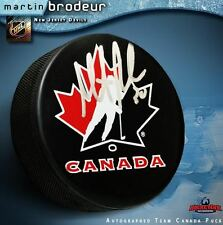 MARTIN BRODEUR Signed Team Canada Puck - New Jersey Devils