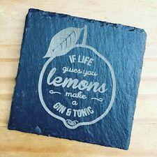 Gin and Tonic Slate Coaster Gift idea Birthday Gift