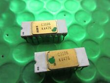 Vintage Intel C3106, Gold top white Ceramic UK Stock