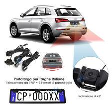 Portatarga per auto con telecamera e ben 2 Sensori di parcheggio Waterproof 170°