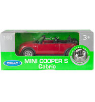 WELLY 1:60 MINI COOPER S CABRIO RED NEW Free Shipping