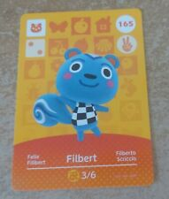 Animal Crossing Amiibo Series 2 unscanned Filbert card