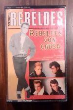 """LOS REBELDES """"Rebelde con causa"""" cassette 1985 rock'n'roll rockabilly"""