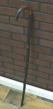"Vintage / Antique Walking Cane - Hard Wood Black Finish 35"""