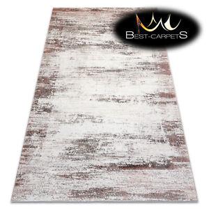 "Modern Designer Rug ""CORE"" Frame Shaded abstraction beige / pink High Quality"